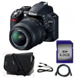 Camera foto digitala NIKON D3100 18-55 VR 14.2 Mp 3 inch negru geanta card memorie cablu USB cablu HDMI Camere foto-video aparate foto dslr Nikon Altex