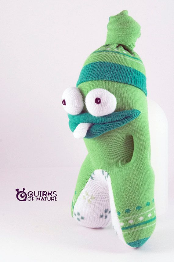 Sock Monster | Safe for babies | St. Patrick's Day | Ready to ship | Finbar…