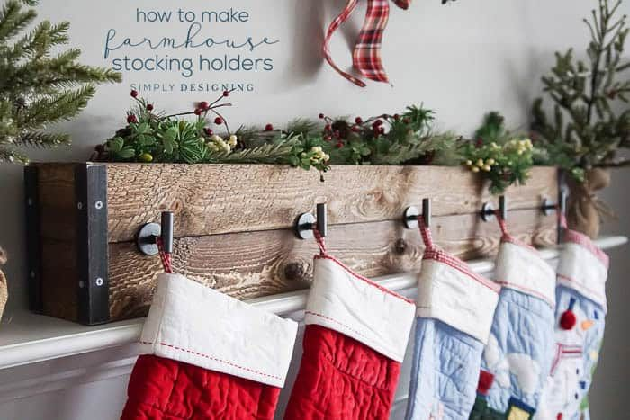 How To Make Farmhouse Stocking Holders Diy Stocking Holder Christmas Stocking Holders Christmas Projects Diy