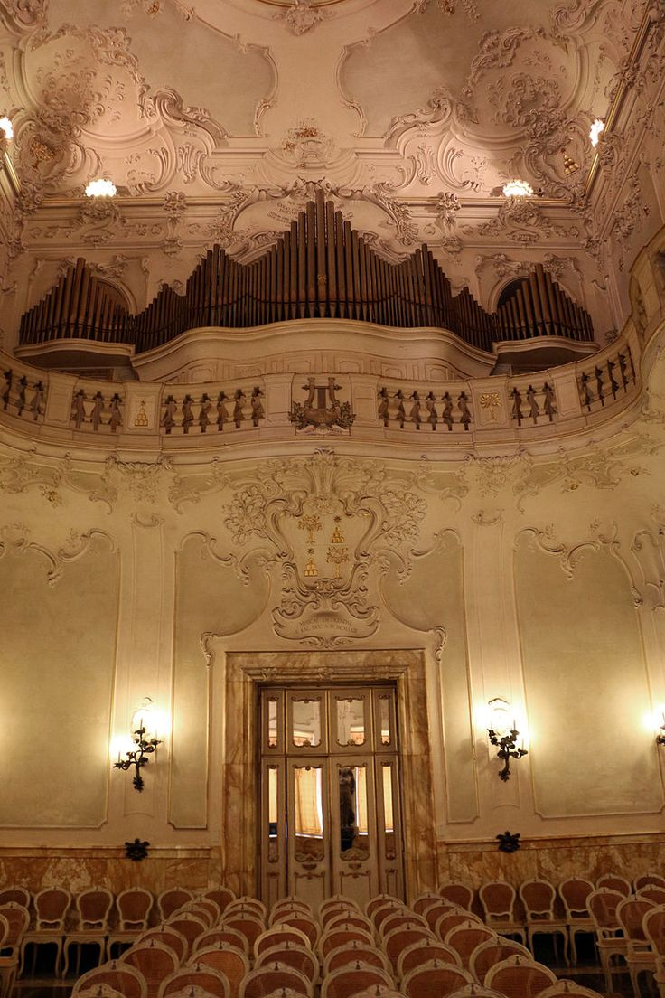 Siena, Toscana, Italia - Palazzo Chigi-Saracini - Sala da concerto
