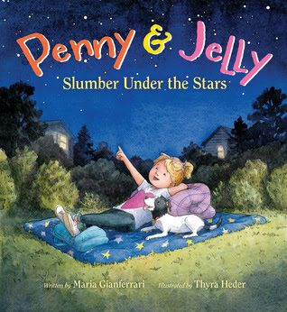 Penny and Jelly return in their second adventure, Penny & Jelly: Slumber Under the Stars (Houghton Mifflin Harcourt, June 14, 2016) written by Maria Gianferrari with illustrations by Thyra Heder.  These irrepressible and inseparable characters have a new difficulty to face.  Will a solution be found through teamwork?