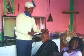 Haircut in Kayamandi