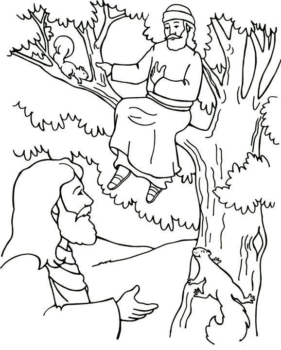 Zaccheus Sunday School Coloring Pages Sunday School Coloring