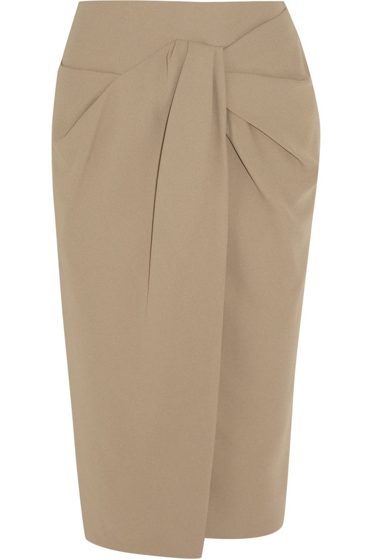 Burberry Prorsum | Gathered crepe pencil skirt | NET-A-PORTER.COM