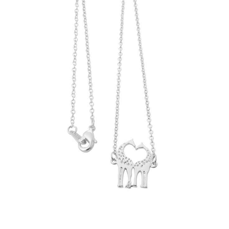 2016 Fashion Love Giraffes Women Necklace pendants in Gold Simple Animal Necklaces 30pcs-N002