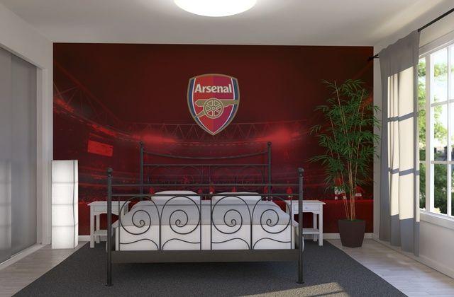 Arsenal - Emblem on Red Stadium - Wall Mural & Photo Wallpaper - Photowall