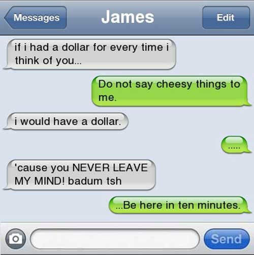 Cheesy Pick up line... The funny thing is that it says James at the top... So I want to put it on my Shadowhunters board ;)
