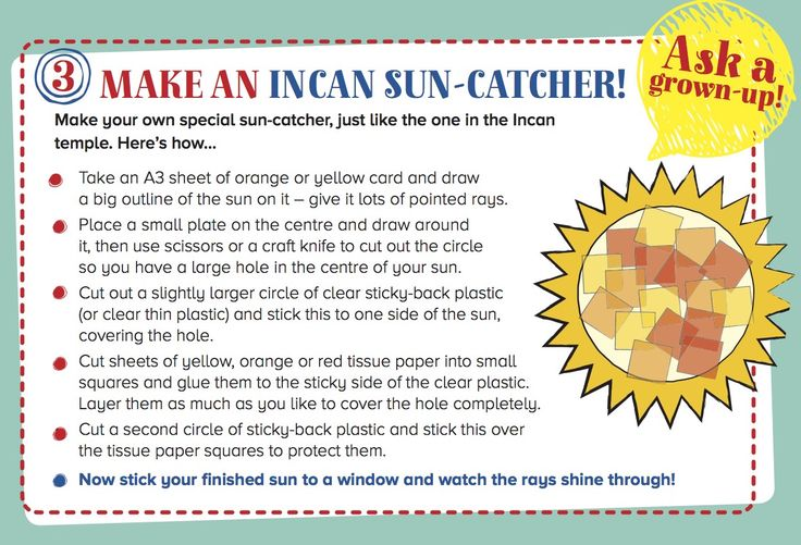 Make an Incan Sun-Catcher, inspired by Storytime issue 20's marvellous myth! ~ IN STORYTIMEMAGAZINE.COM