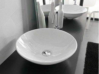 Rundes Aufsatzwaschbecken aus Keramik POLIS - Hidra Ceramica