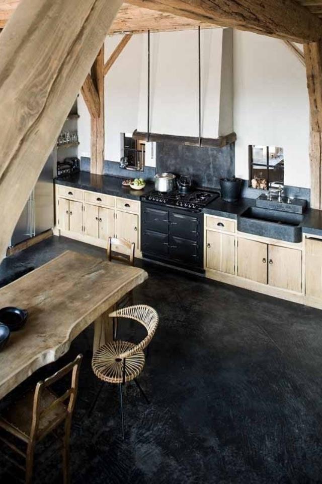 Houten keuken, wooden kitchen