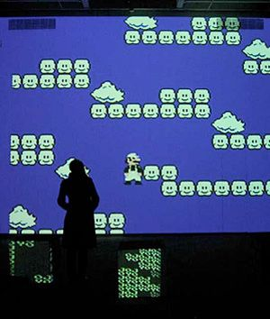 Cory Arcangel: Perhaps best known for his riffs on Nintendo, Arcangel hacks and rewrites popular media to tell a new story. In Super Mario Clouds from 2002, the entire game has been erased, leaving only the clouds.
