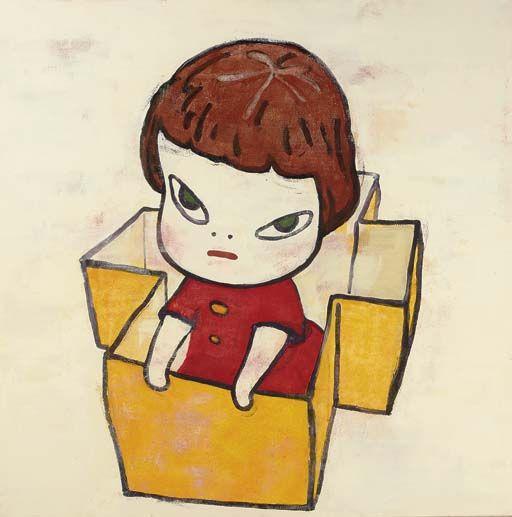 Yoshitomo Nara Cardboard Tank - 1994