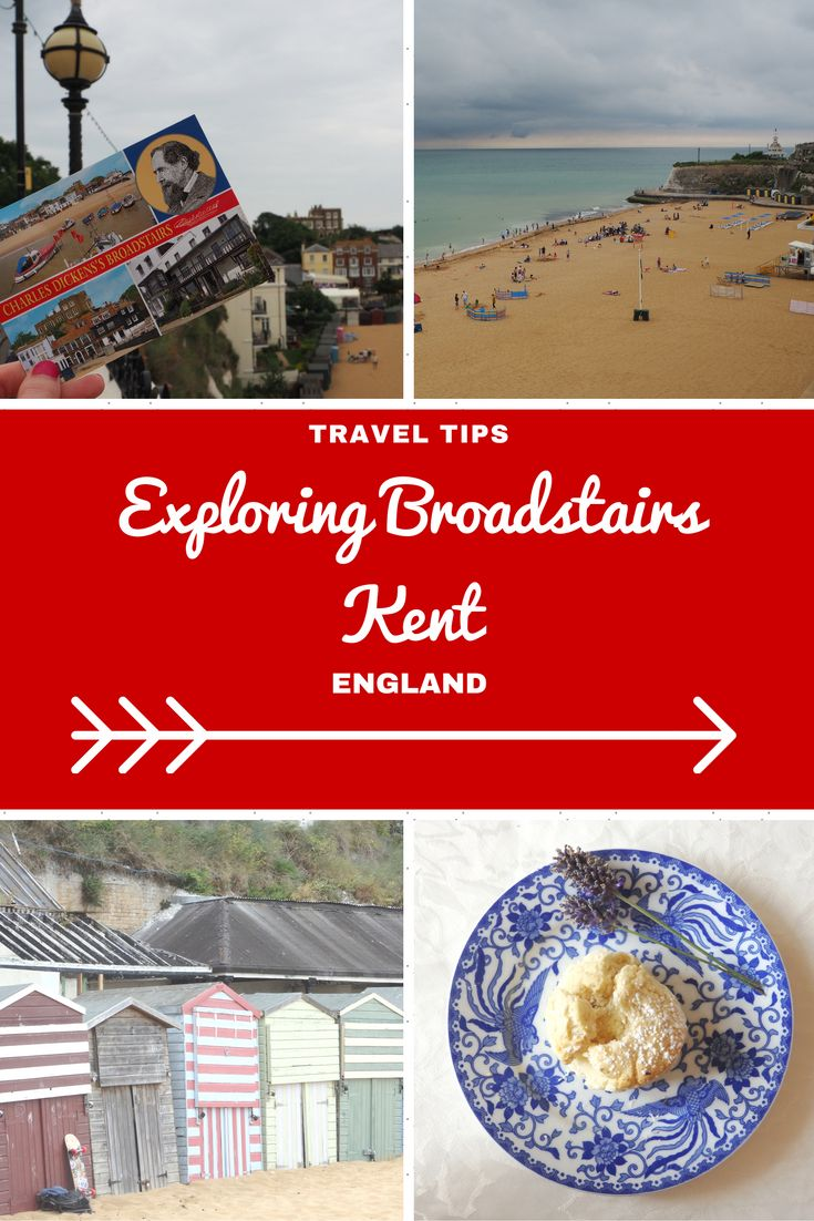 England Travel Inspiration - Fancy a day trip from London to the seaside then why not head on the train to Broadstairs in Kent; Viking Bay is a gorgeous secluded bay for a swim. Charles Dickens called Broadstairs home for a few years and you can now have afternoon tea in his former home which is now a hotel that offers beautiful views to the sea. There are so many wonderful places to visit in the British Isles including Broadstairs, at times you do feel like you're stepping back in…
