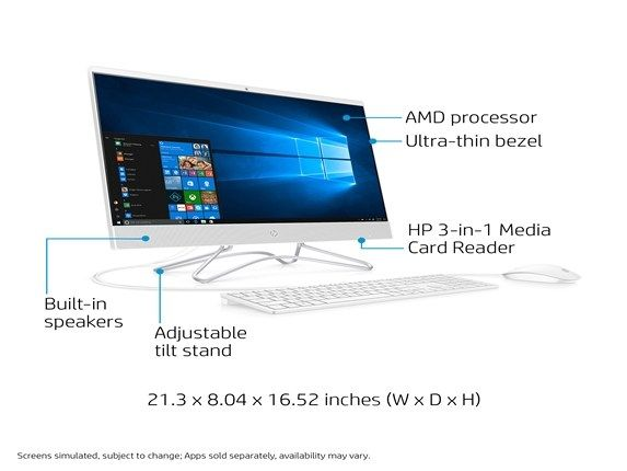Hp 24 F0047c All In One Desktop Pc Amd A9 Processor Fhd Touch Computer Desktop Computers Amd