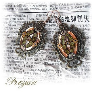 Madame Butterfly Collection - Vintage Pasion Earrings