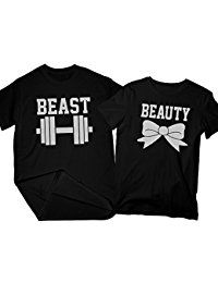 New Zexpa Apparel Beast  Beauty | Matching Couple Shirts, His and Her T-Shirt - Couple Gifts online. Find the perfect KING THREADS Tops-Tees from top store. Sku UUSU19121BSRC27468