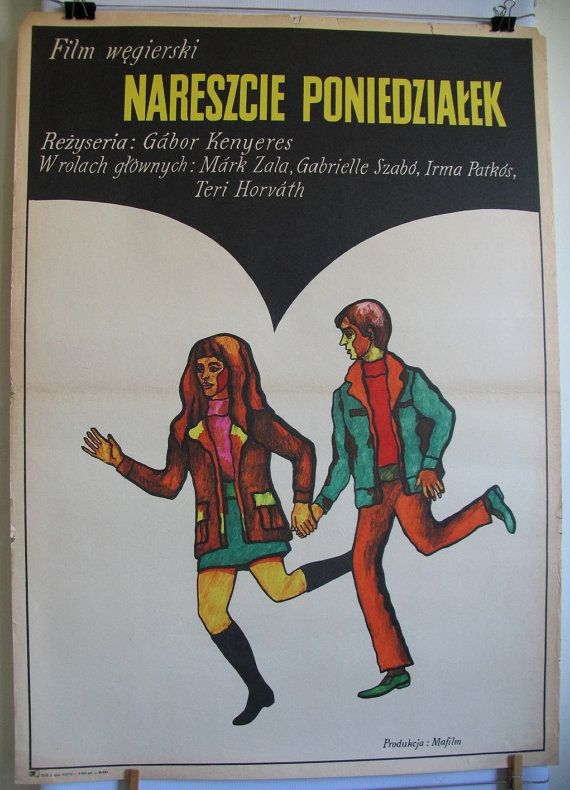 Hungarian 1971s film Végre hétfö original title. by artwardrobe, $39.99