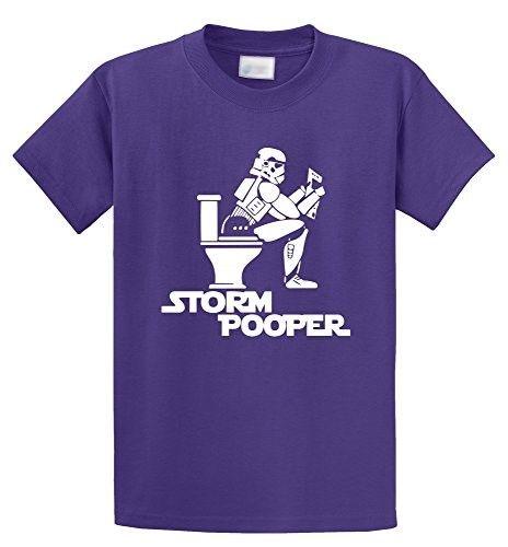Comical Shirt Men's Storm Pooper Funny Star Movie Parody Shirt Purple S, Size: Small