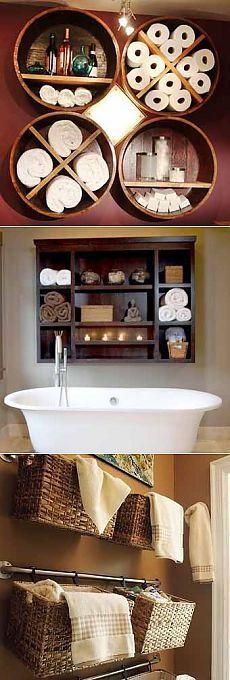 Dom na ręczniki: proste sposoby na przechowywanie w łazience - Dowiedz się, jak zrobić wszystko samemu