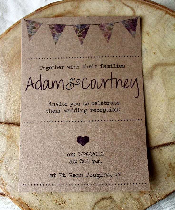 Rustic Brown Paper-Bag Wedding Invite Set - RESERVED for Mary - Design Fee. $50.00, via Etsy.