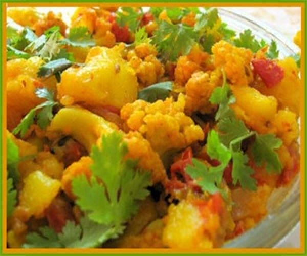 Aloo Gobi,  a traditional Northern Indian Punjabi dry curry dish is very popular across the entire Indian sub continent.