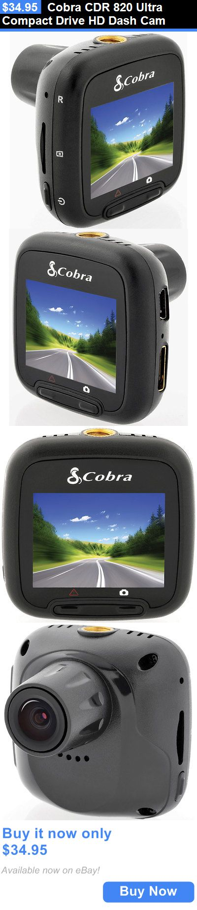 Other Car Electronics Accs: Cobra Cdr 820 Ultra Compact Drive Hd Dash Cam BUY IT NOW ONLY: $34.95
