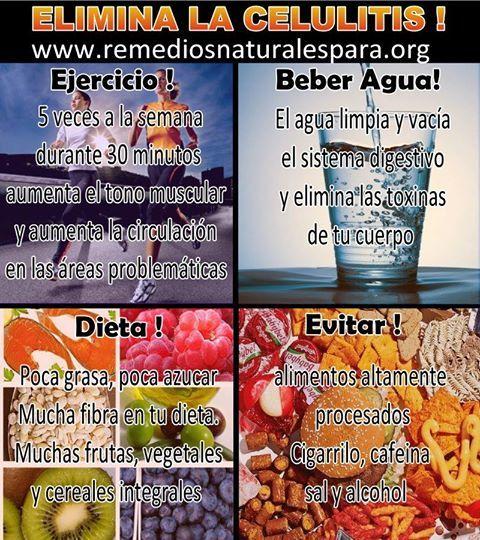 Tips para Eliminar la celulitis | Remedios Naturales Para Todo | Pinterest | Salud