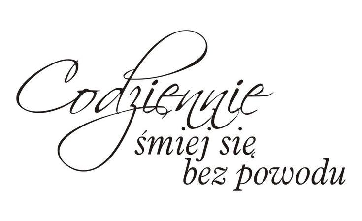 Cytaty, sentencje, napisy - Codziennie śmiej się bez powodu - 64 :: Naklejkolandia