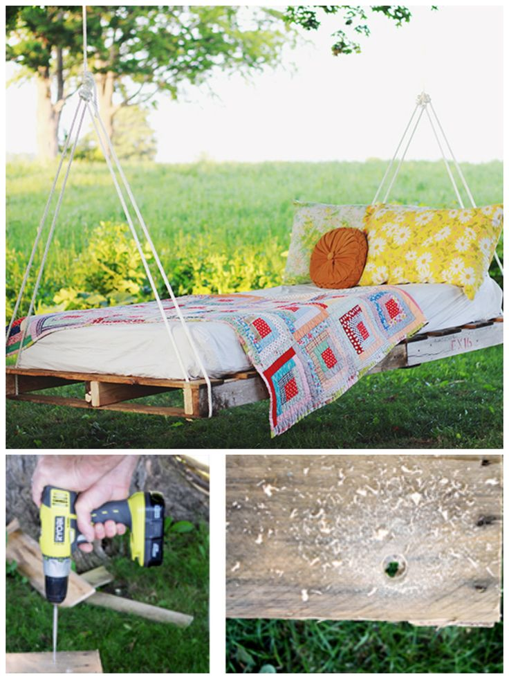 187 best gardening ideas images on pinterest house porch for Outdoor pallet swing bed