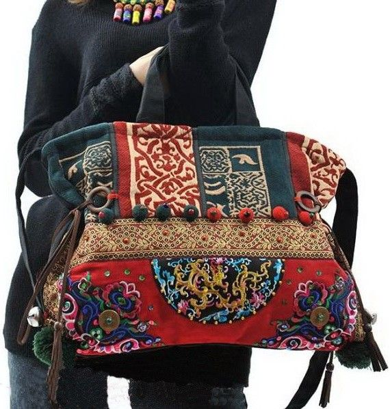 Floral Embroidery Tote Bag by Main Website for $46.00 in Bags ~ Love this bag!