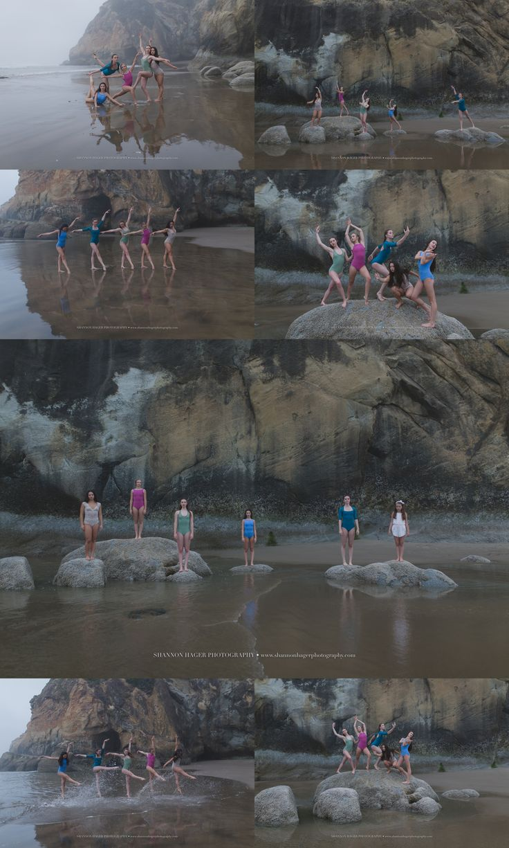 Oregon Coast Photographer, Beach Dance Photography, Group Dance Beach Session, Fired-Up Dance Academy, Shannon Hager Photography