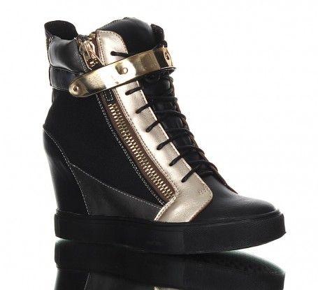 buty czarne - Sneakers - czarne trampki. Czaderskie botki z MTV.