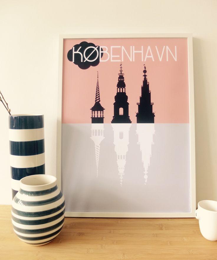 Copenhagen Poster Duo Silhouette. Somewhere in Copenhagen...
