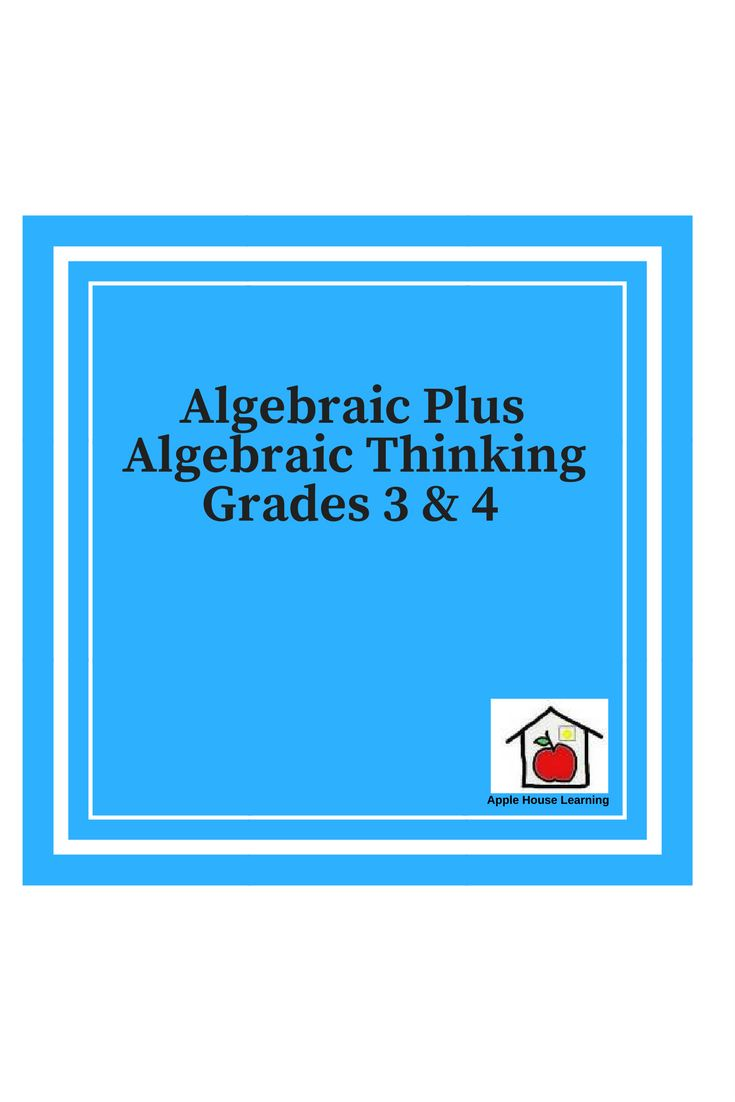 The 13 best Algebra Plus Algebraic Thinking Grades 3rd and 4th ...