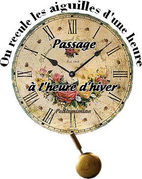 On recule les aiguilles d'une heure. Passage à l'heure d'hiver #heurehiver changement d heure horloge