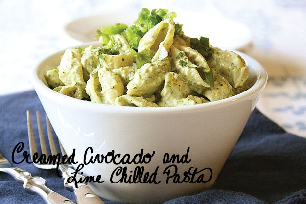 Creamed Avocado & Lime Chilled Pasta | 30 Delicious Vegan Meals You Can Make In Under 30 Minutes