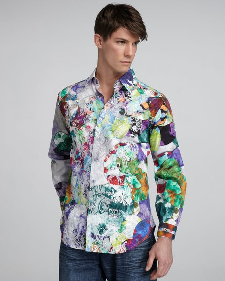 Men 39 s limited edition patrick sport shirt patrick o for Robert graham tall shirts