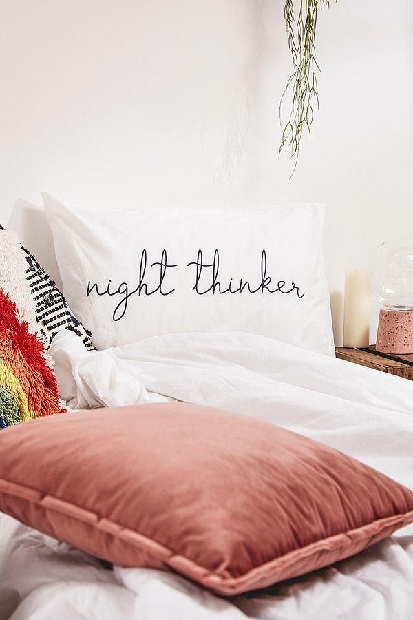 """AFFILIATELINK   Kissenbezug-Set """"Day Dreamer Night Thinker"""", skandinavisch, …   – Schlafzimmer einrichten   Ideen, DIY's & mehr"""