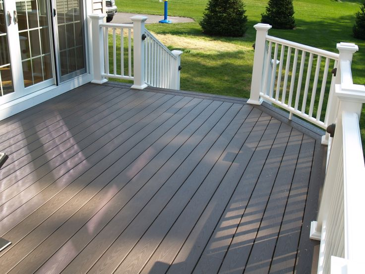 24 best azek decks images on pinterest terrace basement and picture framed trex decking and azek premiere railing with deck lighting aloadofball Images