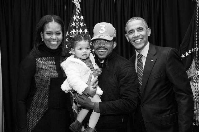 'Say Cheese!' Chance the Rapper Posts Sweet Photo of Daughter Meeting the Obamas