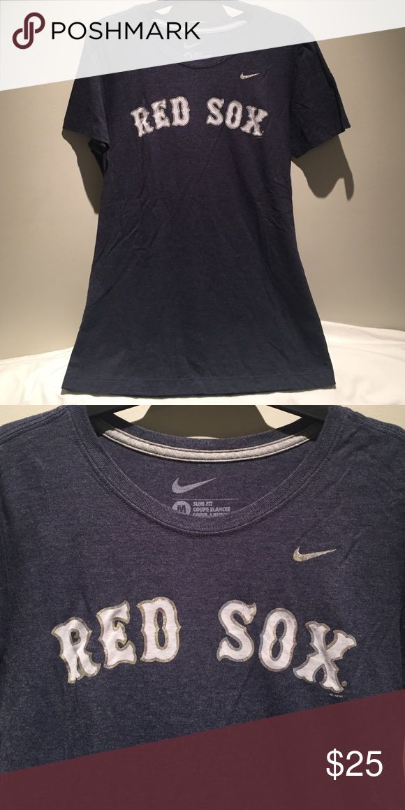 Nike Red Sox fitted t-shirt This Nike slim fit ladies shirt is super soft. It has only been worn and washed once. Nike Tops Tees - Short Sleeve