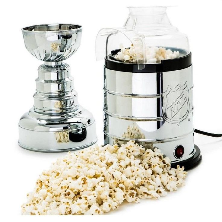 Stanley Cup Hot-Air Popcorn Maker! Perfect for any game room or hockey home!