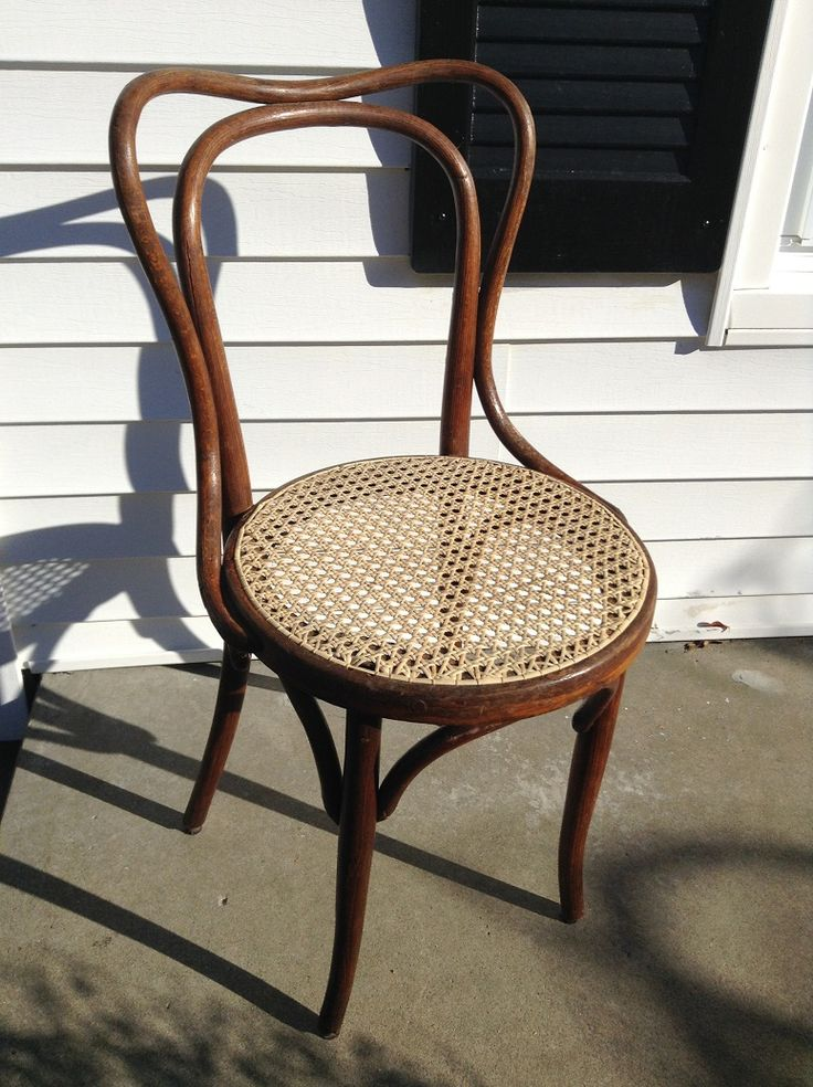 Mike thinks this might be an original Thonet chair. The bentwood back is quite unique.