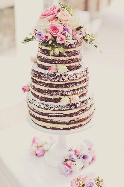 Beautiful naked cake