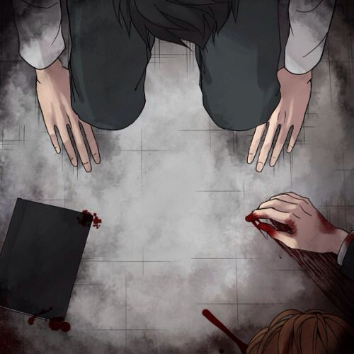 "L and Light from ""Death Note""...."