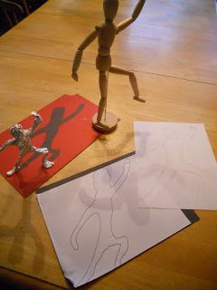 Create Art With Me!: Foil Giacometti Figures DEFINITELY my favorite idea so far!!! Incorporates anatomy, movement, shadows...
