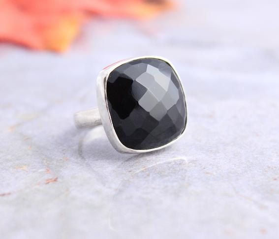 Rock star ring  Black onyx ring  Bold ring  Black by Studio1980, $75.00