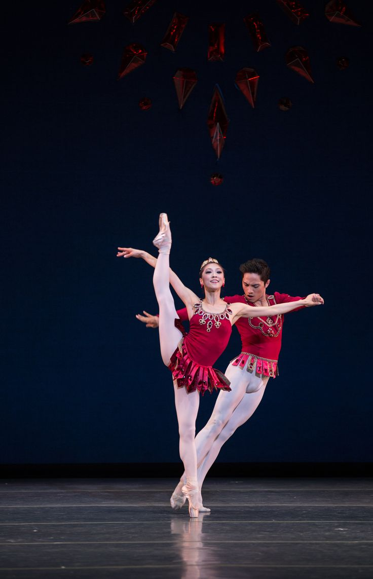 Jeffrey Cirio and Misa Kuranaga in Boston Ballet's Rubies ©Rosalie O'Connor