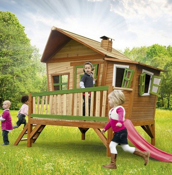 17 best Axi Wooden Playhouses images on Pinterest Playhouses - Maisonnette En Bois Avec Bac A Sable