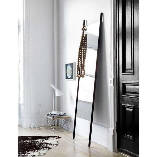 Georg Floor Mirror Design Within Reach ($928) ❤ liked on Polyvore featuring home, home decor, mirrors, design within reach, full length floor mirror, full length standing mirror and full length mirror